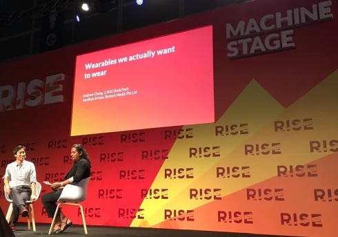 Sandhya @ RISE conference in HongKong, moderating a session on wearables