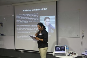 Startup workshop series: Pitching/Elevator Pitch (15th March 2016)