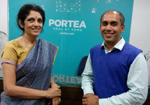 Meena Ganesh, MD & CEO of Portea and Ashish Bhutada, Co-Founder, CEO and Managing Director of Heath Mantra