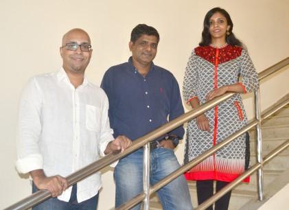 PurpleHealth Co-founders:L-R Vikram Nair, Prakash Sathyapalan, Mini Balaraman